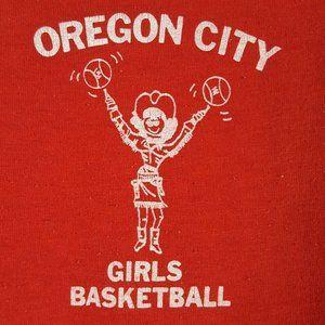 Vtg 70s Oregon City Girls Basketball T-Shirt M